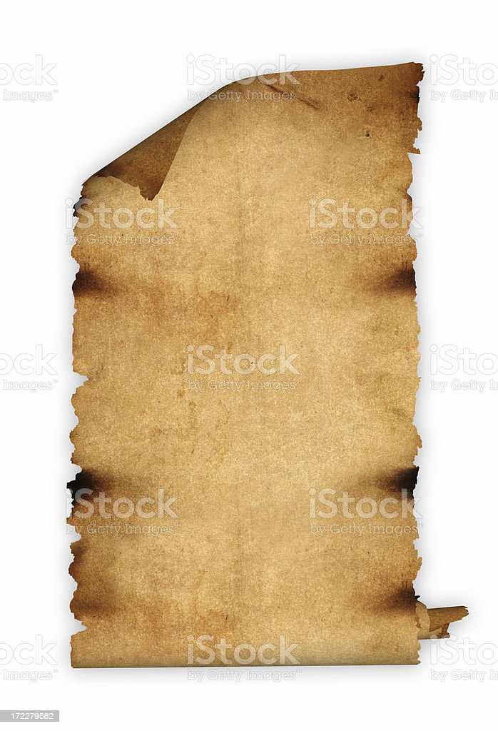 Medieval Scroll stock photo