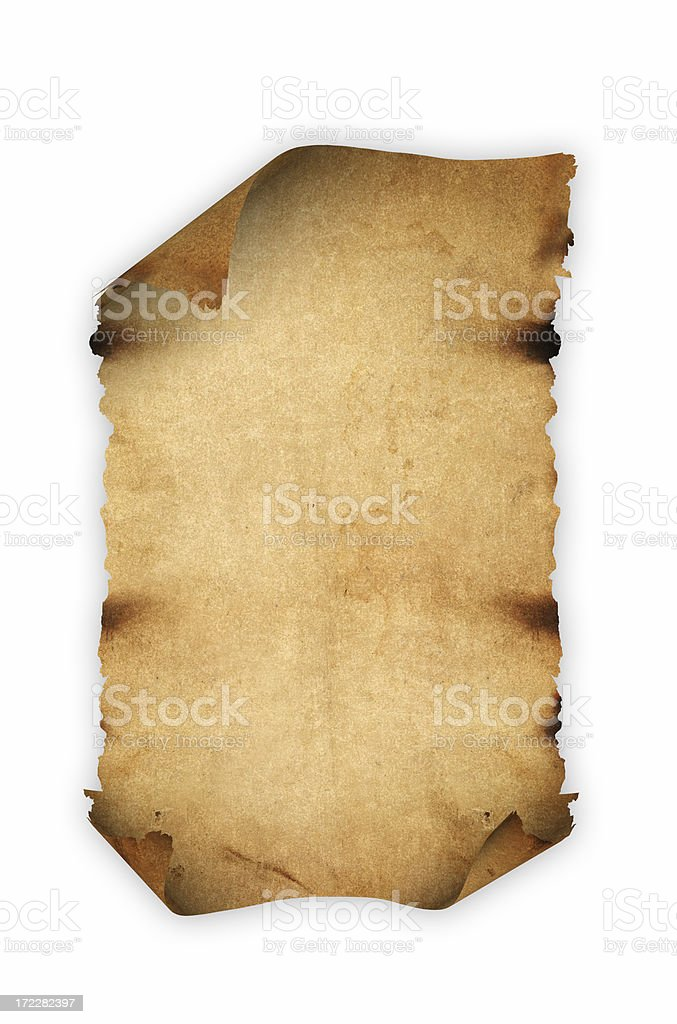 Medieval Scroll (isolated) royalty-free stock photo
