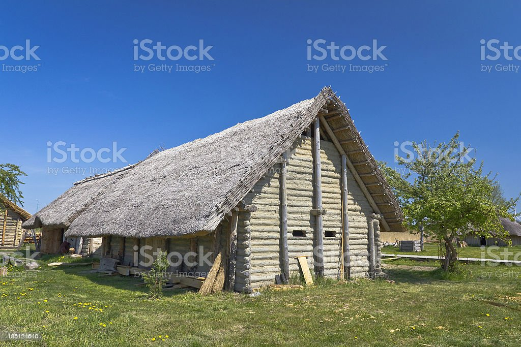 Medieval settlement Slavs and Vikings, Wolin, Poland royalty-free stock photo