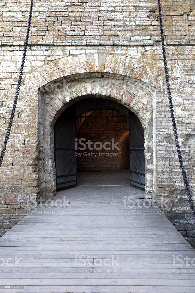 Medieval smart gate stock photo