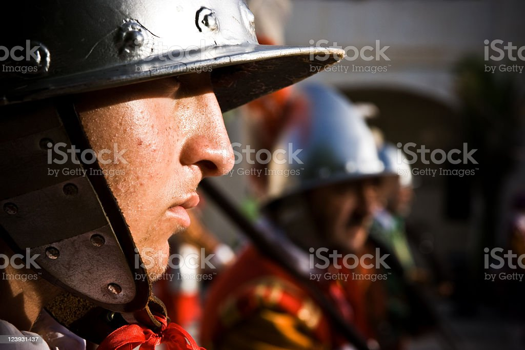 Medieval soldier portrait royalty-free stock photo