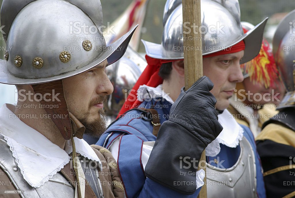 Medieval soldiers royalty-free stock photo