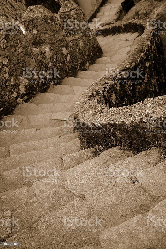 Medieval stair stock photo