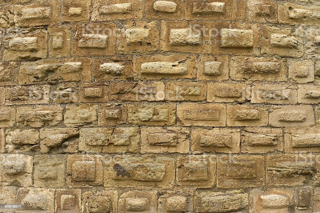 Medieval stone wall stock photo