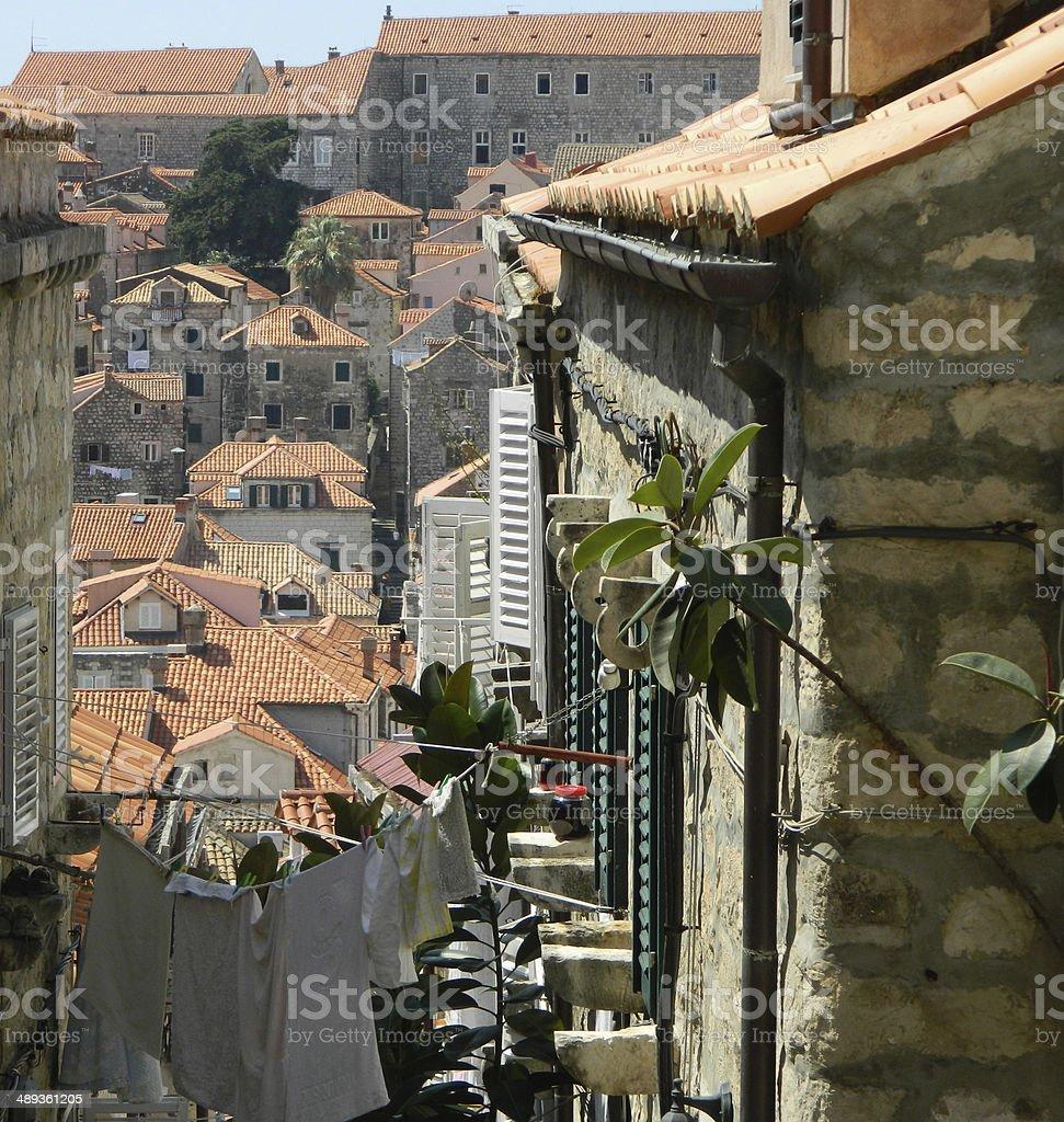 Medieval  street in Dubrovnik royalty-free stock photo