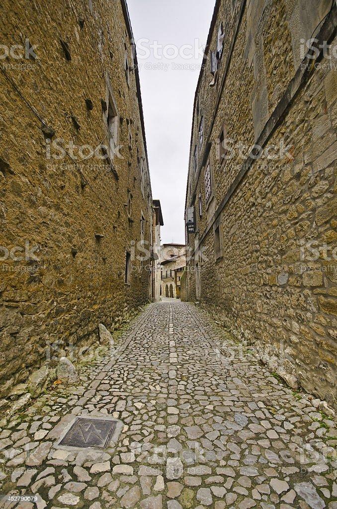 Medieval street. stock photo