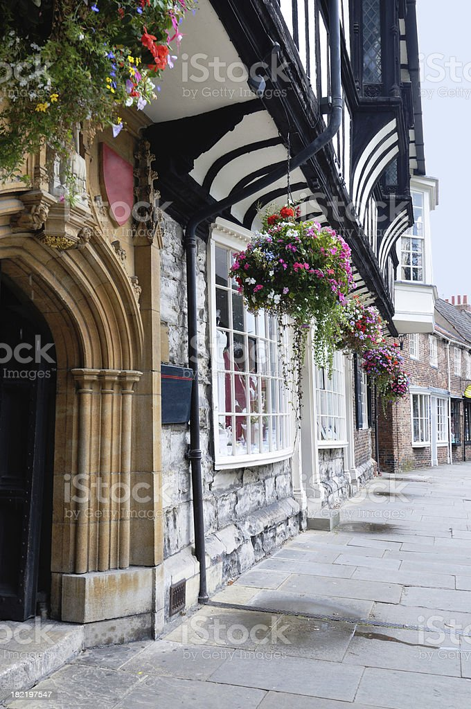 medieval street, York, UK royalty-free stock photo