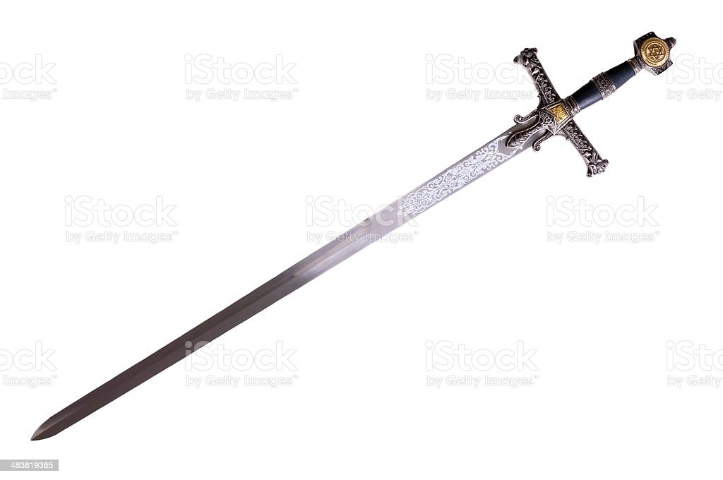 Medieval sword royalty-free stock photo