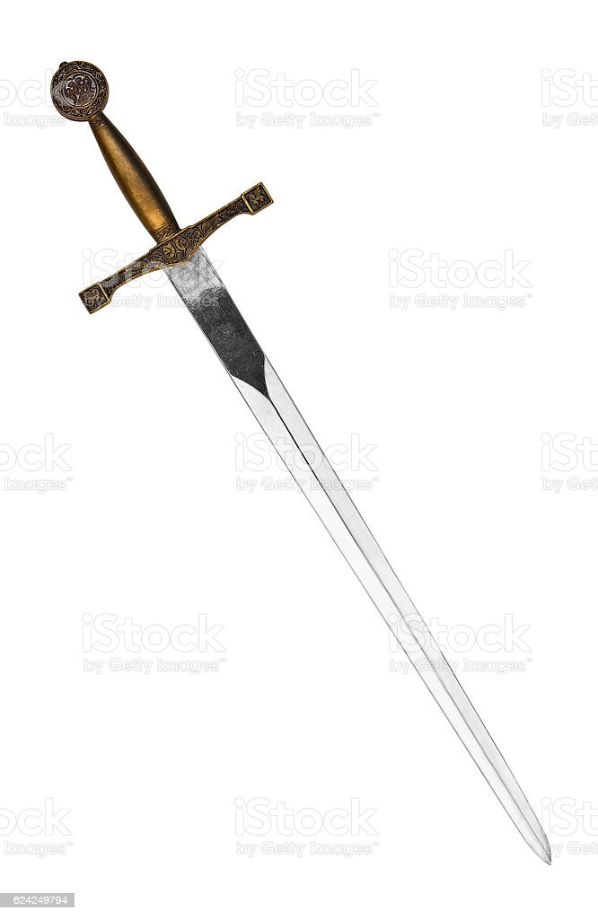 Medieval sword stock photo