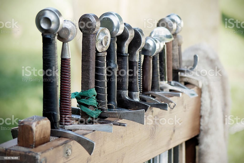 Medieval Swords stock photo