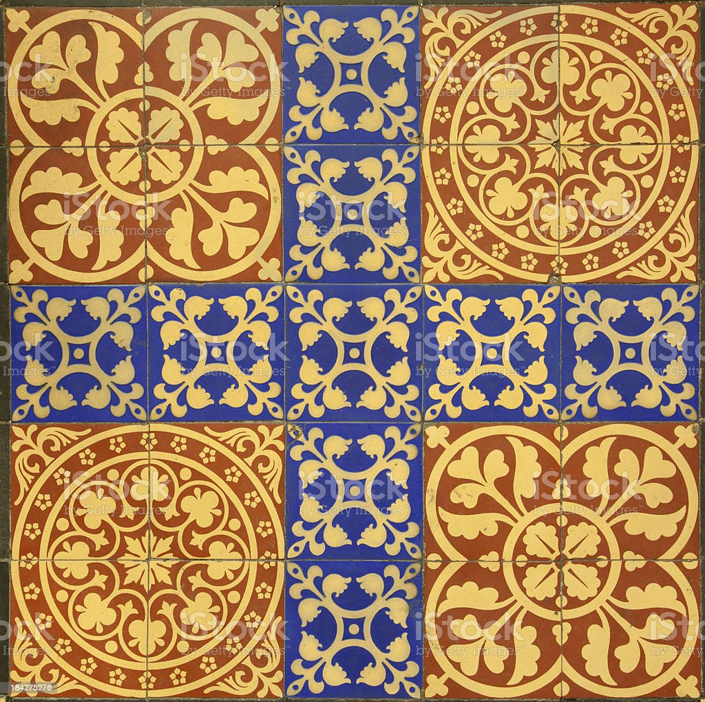Medieval Tile Pattern stock photo