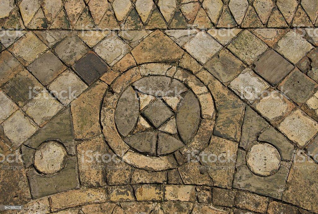 Medieval Tiles royalty-free stock photo