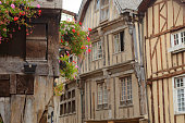 medieval timber-framed houses and buildings in Dinan