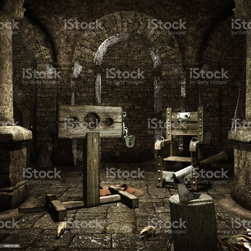 Medieval torture chamber stock photo