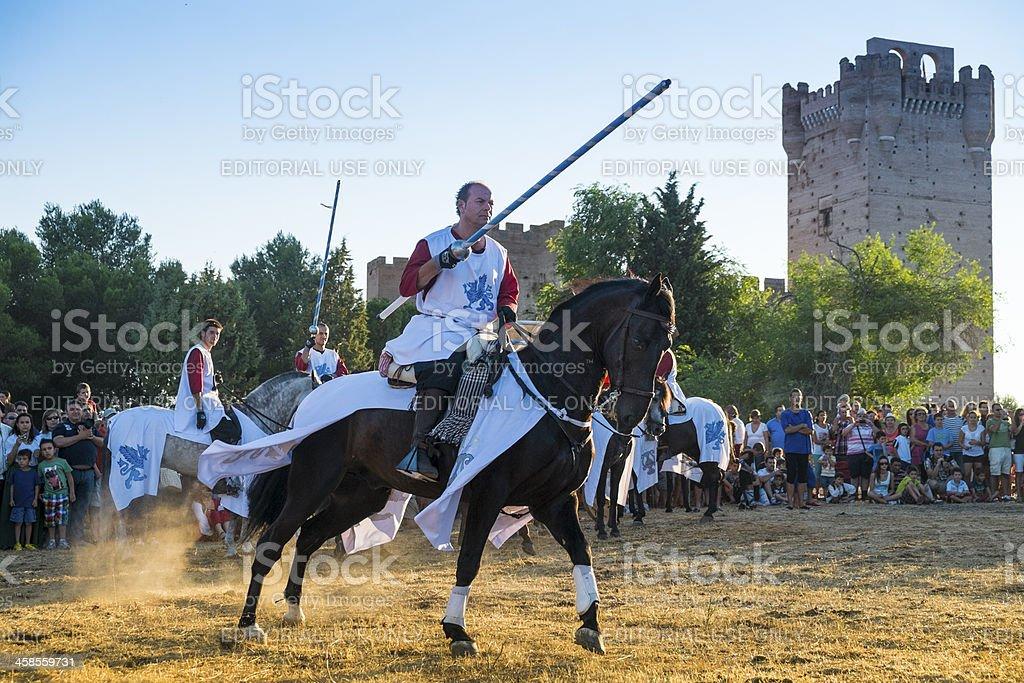 Medieval tournament stock photo