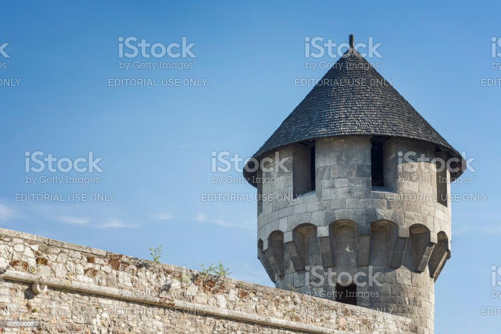 Medieval Tower From Buda Castle, Budapest, Hungary stock photo
