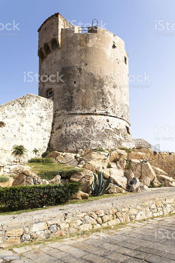 Medieval Tower In Marciana, Elba Island royalty-free stock photo