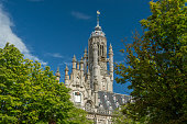 Medieval tower of the town hall of Middelburg the Netherlands