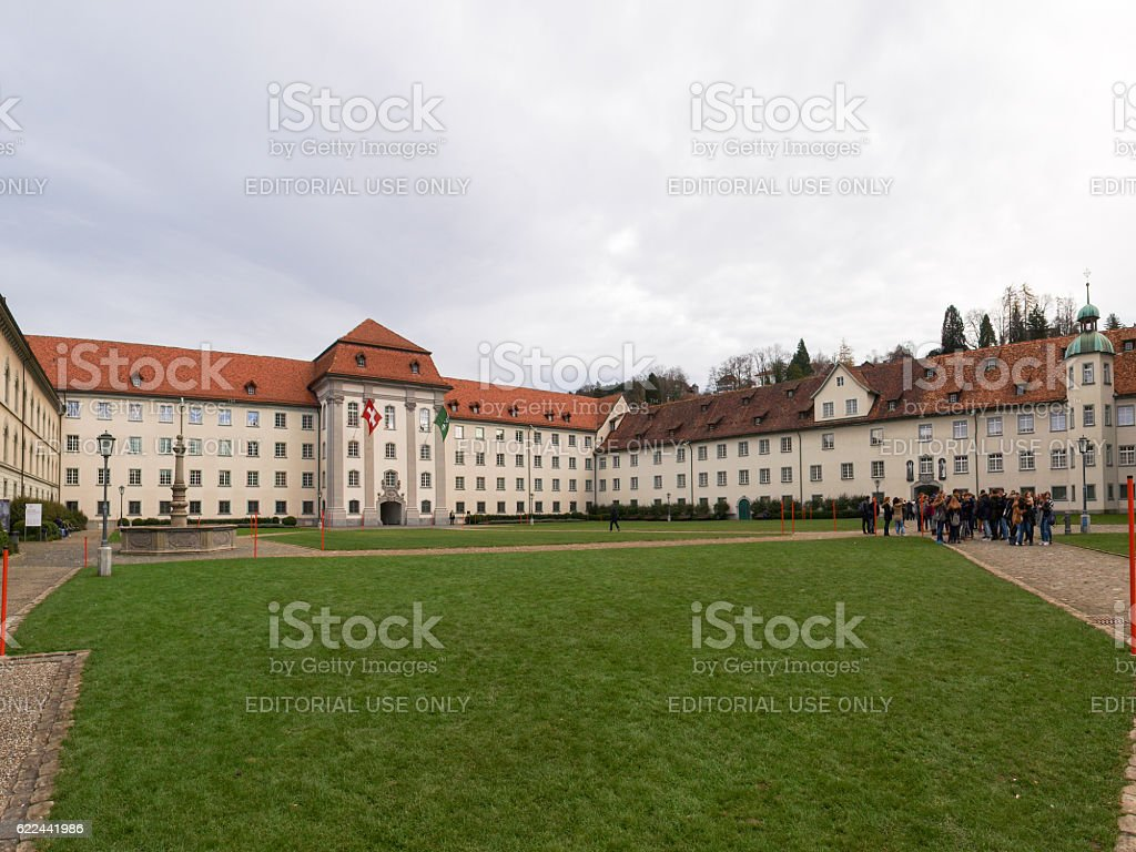 Medieval town and the St.Gallo stock photo
