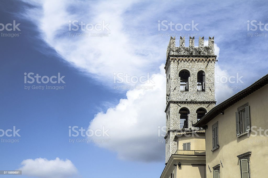 Medieval town in Italy stock photo