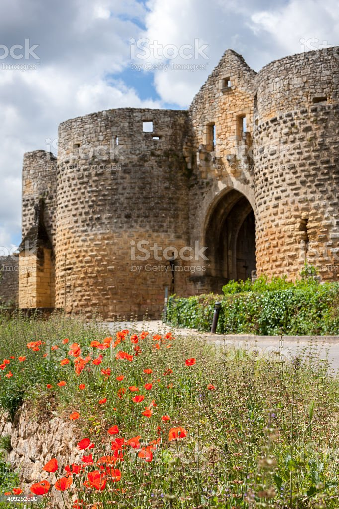 Medieval town of Domme stock photo
