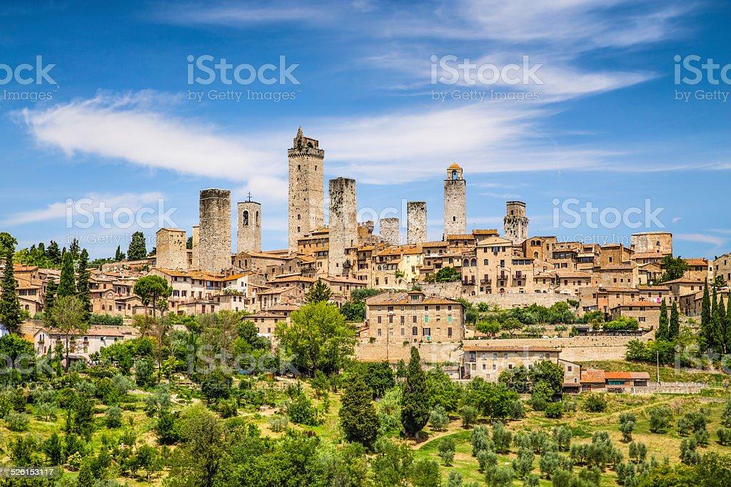Medieval town of San Gimignano, Tuscany, Italy stock photo