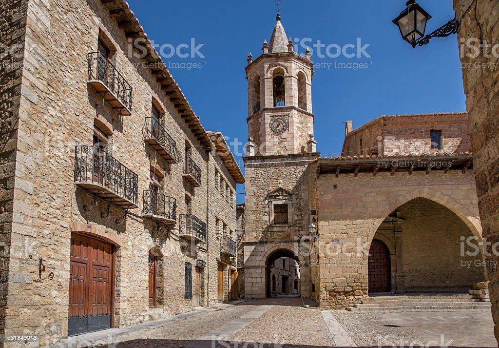 Medieval town stock photo
