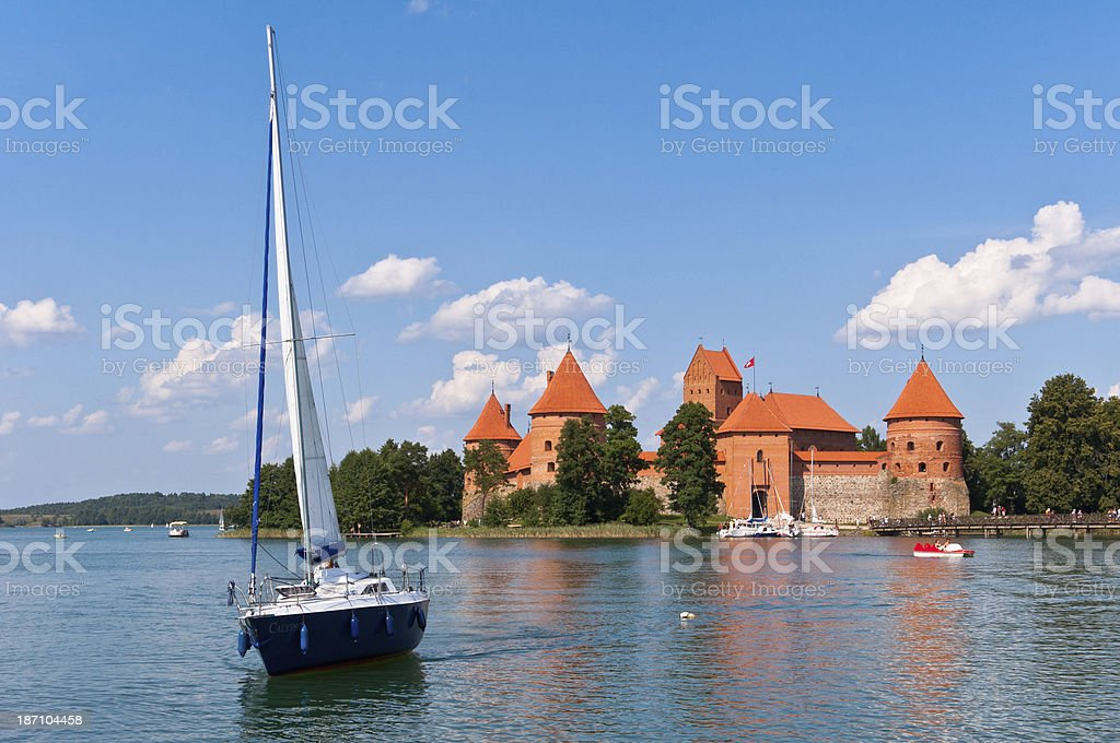 Medieval Trakai Castle royalty-free stock photo
