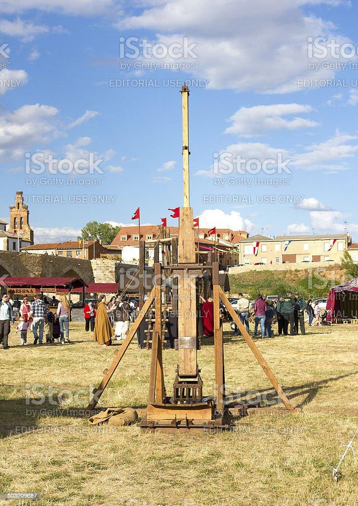 Medieval trebuchet stock photo