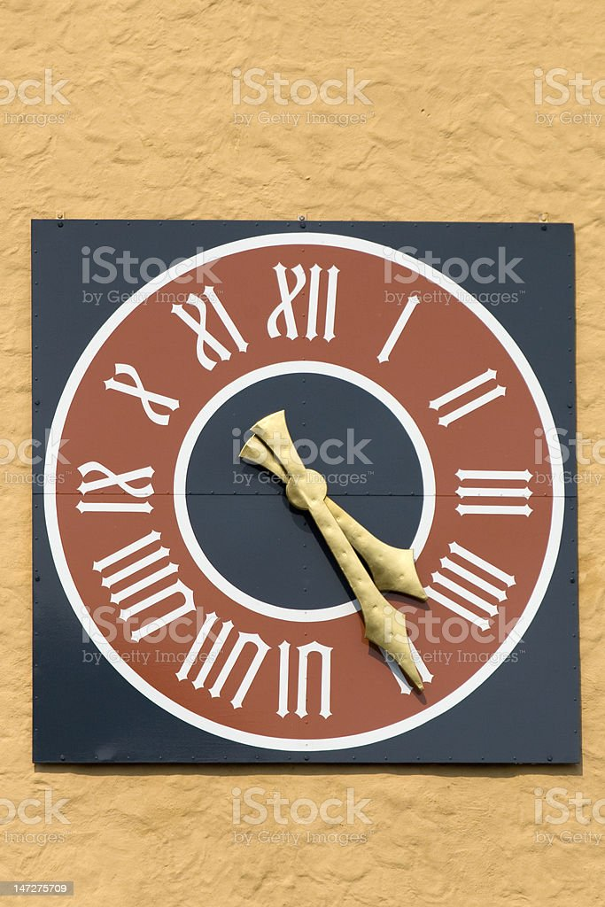 medieval turret clock royalty-free stock photo