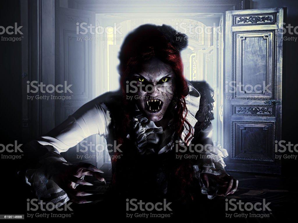 medieval vampire woman stock photo