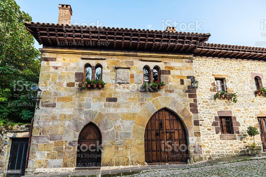 Medieval village of Santillana del Mar in Spain stock photo