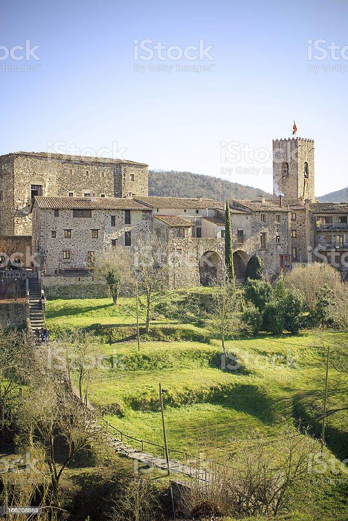 Medieval village royalty-free stock photo