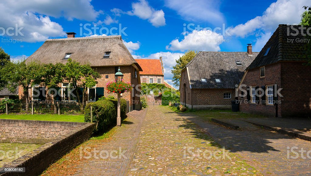 Medieval Village stock photo