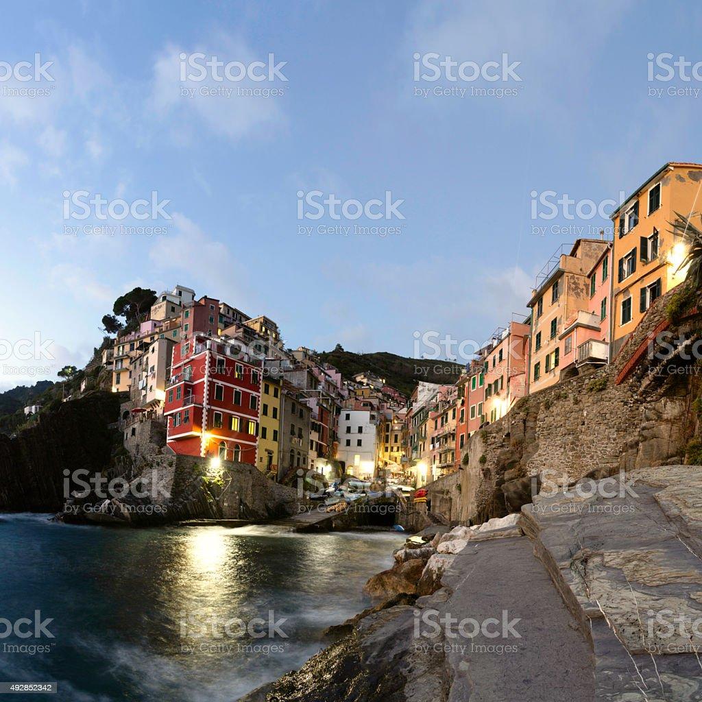 Medieval Village Riomaggiore stock photo