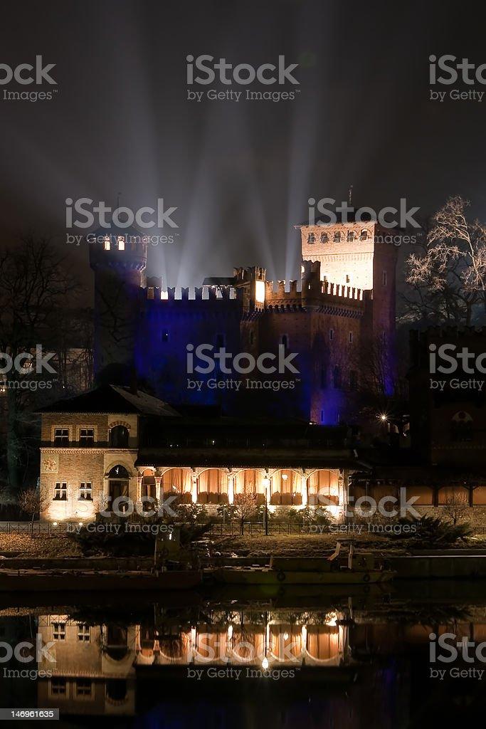 Medieval village, Valentino park - Torino stock photo