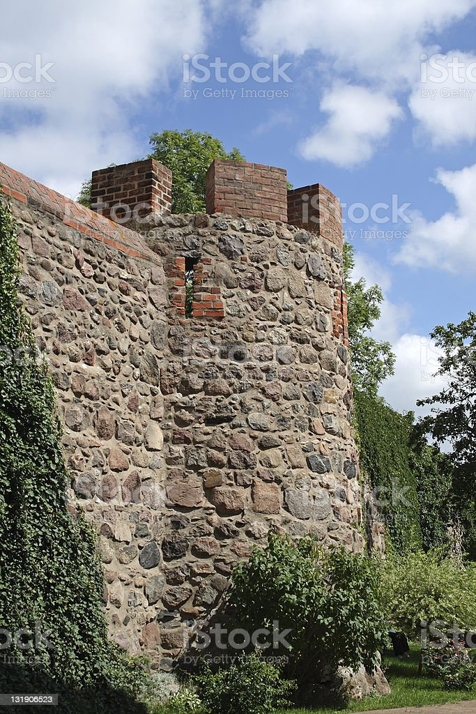 Medieval Wall in Templin stock photo
