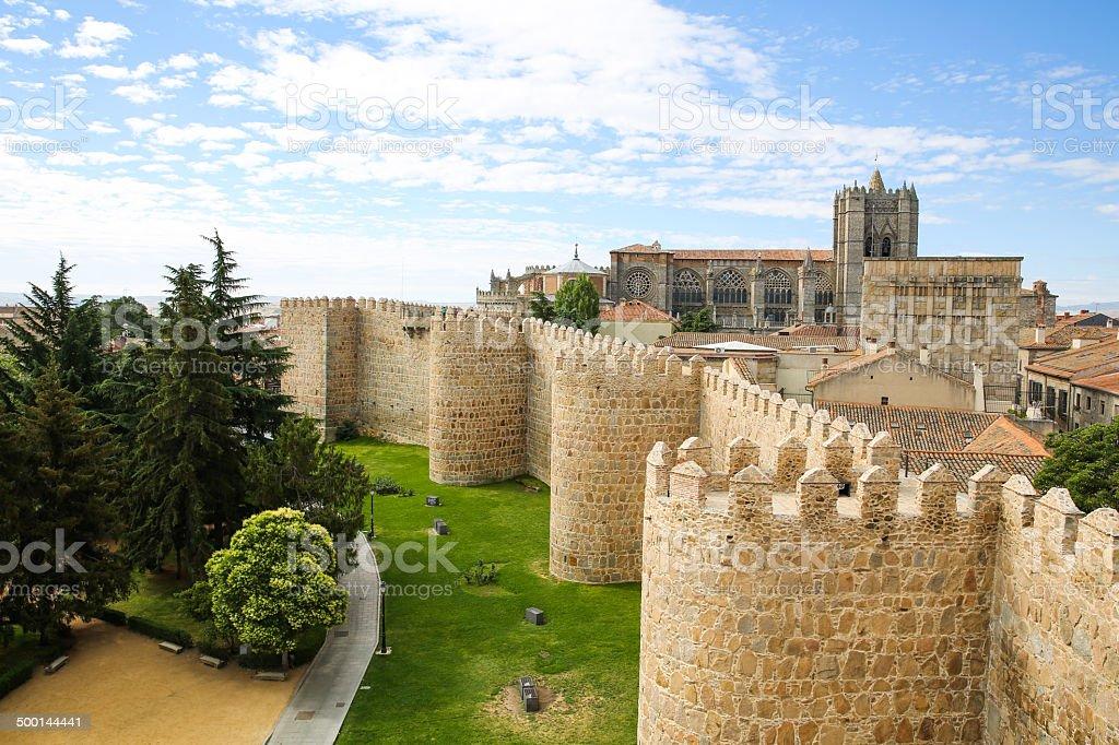 Medieval Wall of Avila stock photo