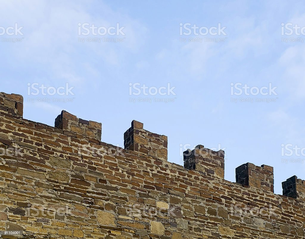 medieval wall stock photo