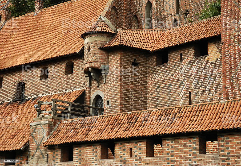 Medieval wall with turret royalty-free stock photo