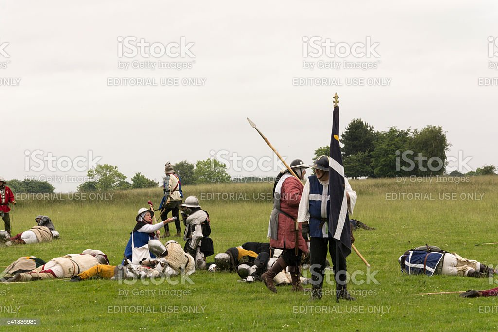 Medieval Warfare at the Old Hall Cheshire stock photo