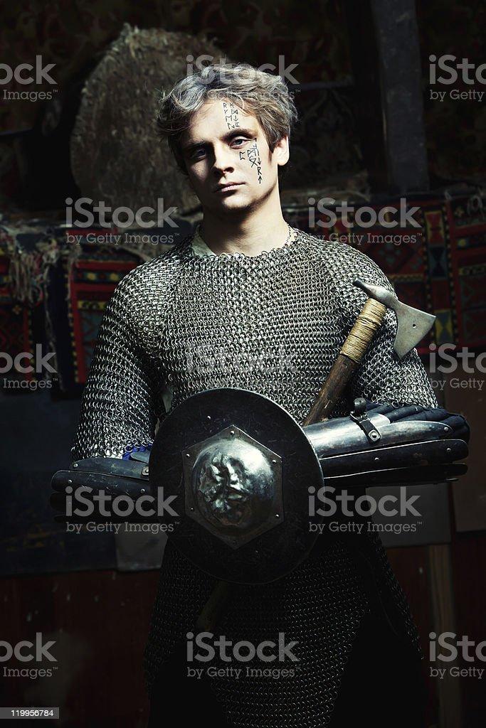 Medieval Warrior royalty-free stock photo