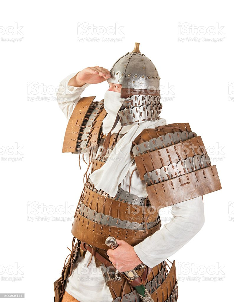 medieval warrior royalty-free stock photo