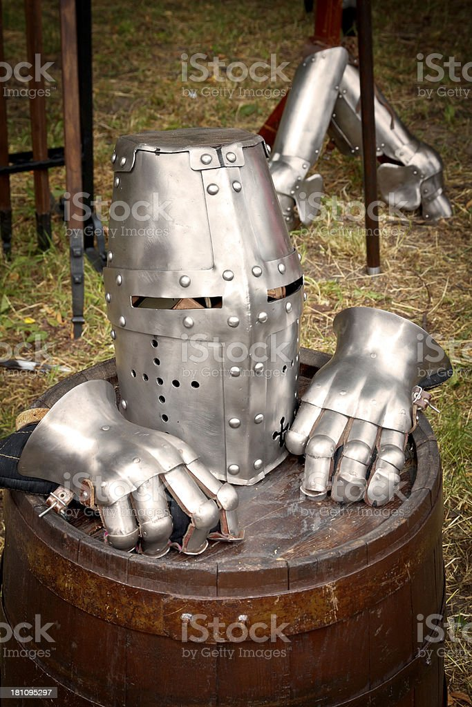 Medieval warrior's equipment royalty-free stock photo
