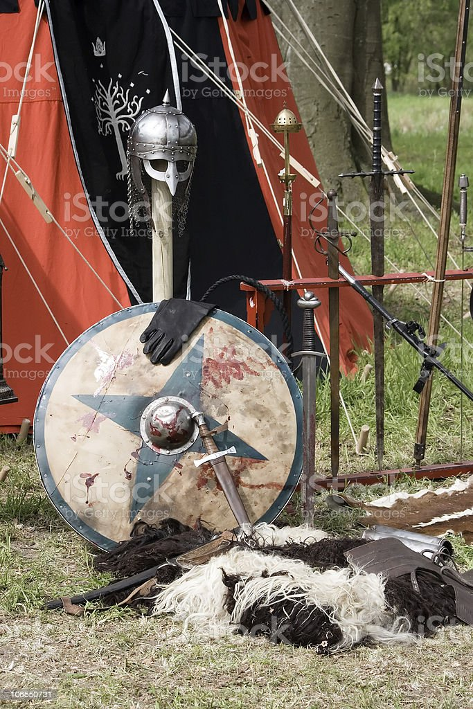 Medieval weaponry royalty-free stock photo