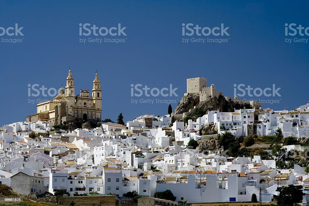 Medieval White Village stock photo