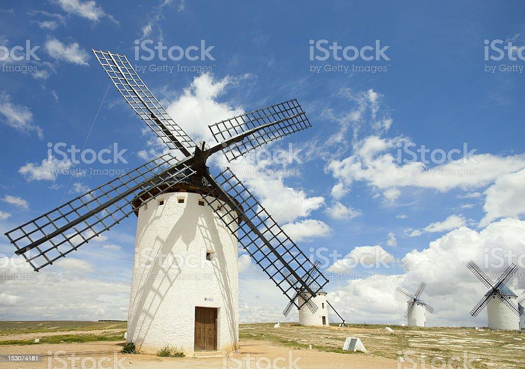 Medieval Windmills stock photo