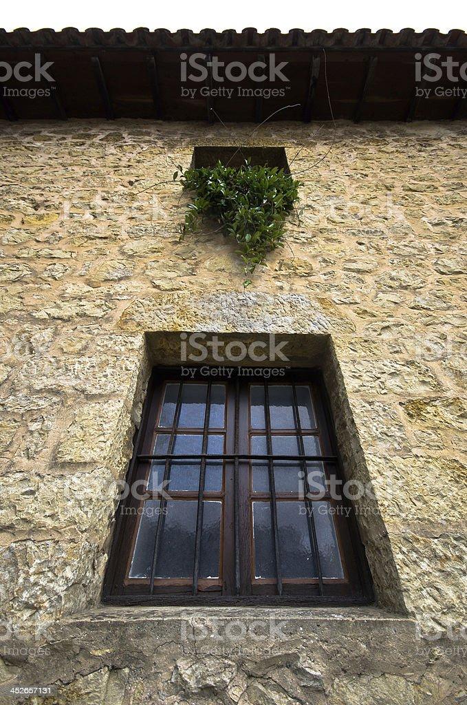 Medieval window. stock photo