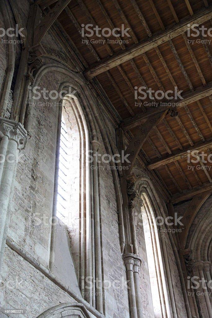 Medieval Windows royalty-free stock photo