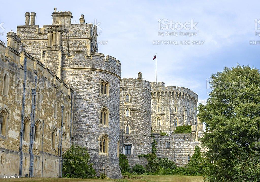 Medieval Windsor castle in Berkshire, England. stock photo
